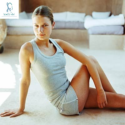 Sitting spinal stretch